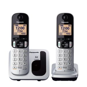 Telefone Sem Fio Panasonic Com Viva Voz Prata KX-TGC212LB1