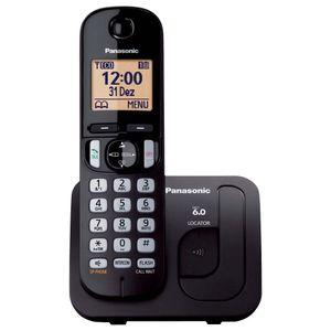 Telefone Sem Fio Panasonic Com Viva Voz Preto KX-TGC210LBB