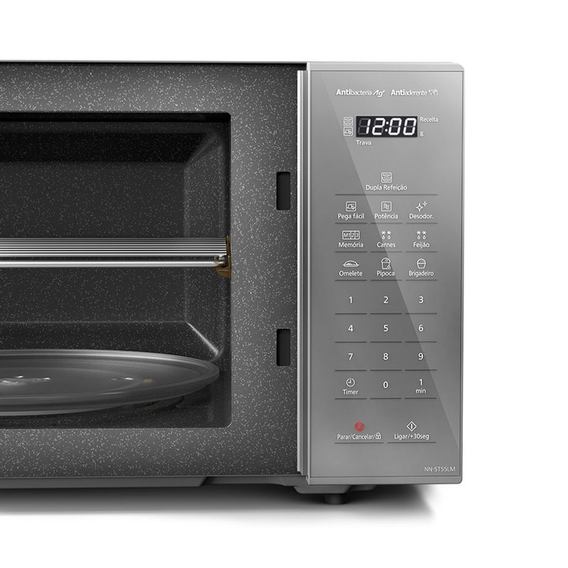 Micro-ondas Panasonic 27l 800W Prata ST55LMRU